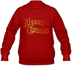 Merry Christmas Red And Orange Color Cool 100% Cotton Long Sleeve Sweatshirt For Womens
