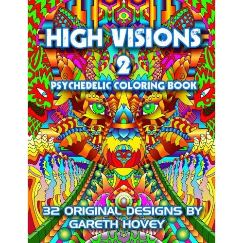 Amazon.com: High Visions 2 - Psychedelic Coloring Book (High Visions ...