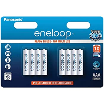 Panasonic Eneloop AAA Micro 750 mAh eneloop NiMH Prêt à Utiliser Rechargeable 4
