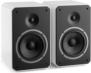Numan Octavox 702 MKII Altavoces HiFi de Dos vías de estantería (100w Potencia máxima, Altavoz Medios y Graves, Tweeter WaveGuide, BassReflex, diseño Octogonal, Home Cinema) - Blanco