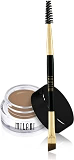 Milani Stay Put Brow Color - Soft Brown (0.09 Ounce) Vegan, Cruelty-Free Eyebrow Color that Fills and Shapes Brows