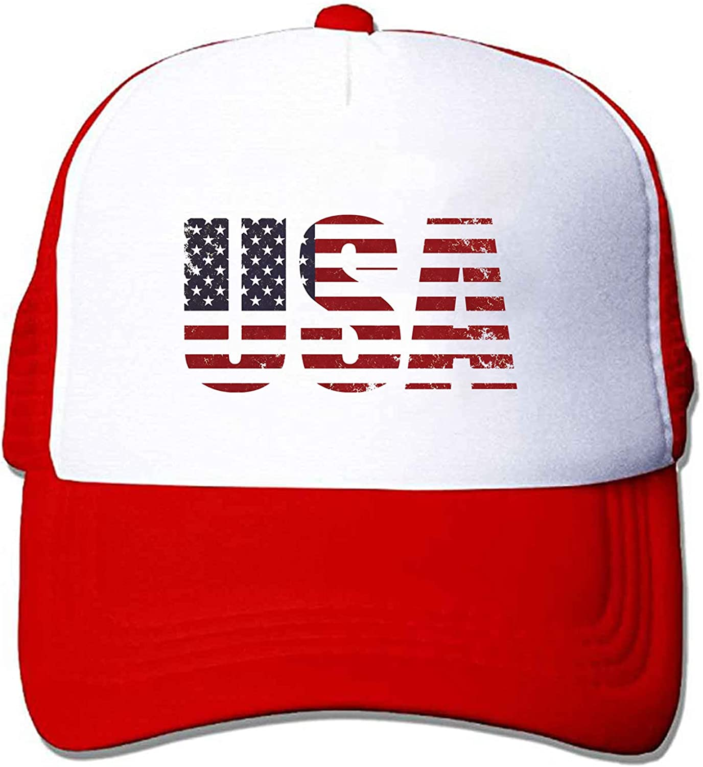 ZMvise Vintage USA 4th of July Independence Day Unisex Adjustable Trucker Hat Mesh Baseball Cap