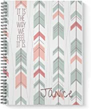 """A Way of Life Personalized Motivational Notebook/Journal, Laminated Soft Cover, 120 Checklist pages, lay flat wire-o spiral. Size: 8.5"""" x 11"""". Made in the USA"""
