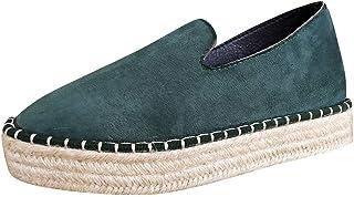 Espadrilles Loafers,Chaussures Plates Pas Cher A La Mode Confort Respirantes LéGer Chaussures Ete Slip on Loafers