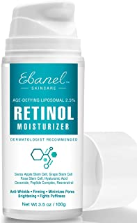 Retinol Cream 2.5% High Strength for Face - 3.5 oz with Hyaluronic Acid, Peptide, Vitamin E, Shea Butter, Stem Cell Extracts Wrinkle Cream Retinol Moisturizer, Retinol Night Cream Anti-Aging Cream
