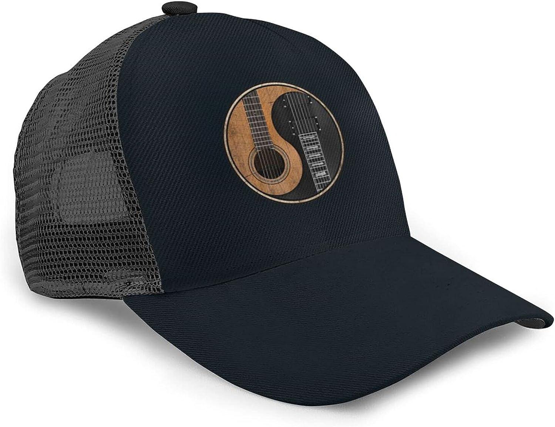 liyusae Snapback Mesh Baseball Cap for Men Women, Breathable Summer Trucker Cap, Dad Hats for Workouts