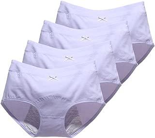 Big Girls Menstrual Period Panties No Leak Briefs Teen Girls Free Leak Underwear Pack of 4