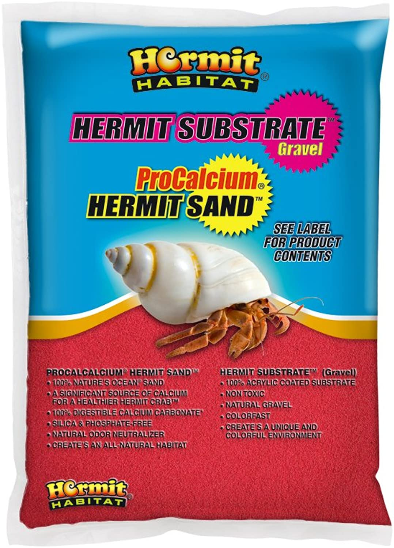 Hermit Habitat Terrarium Sand, 5Pound, Red