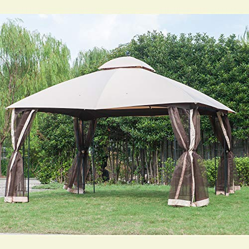Original Replacement Canopy for Royale Gazebo (10X12 Ft) L-GZ798PST-J Sold at OSJ, Beige - Sunjoy 110109032