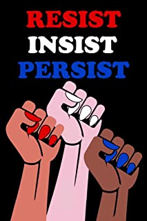 Resist Insist Persist Womens Fists Political Laminated Dry Erase Sign Poster 12x18