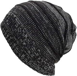 iYBUIA Women Men Warm Baggy Weave Crochet Winter Wool Solid Knit Ski Beanie Skull Caps Hat