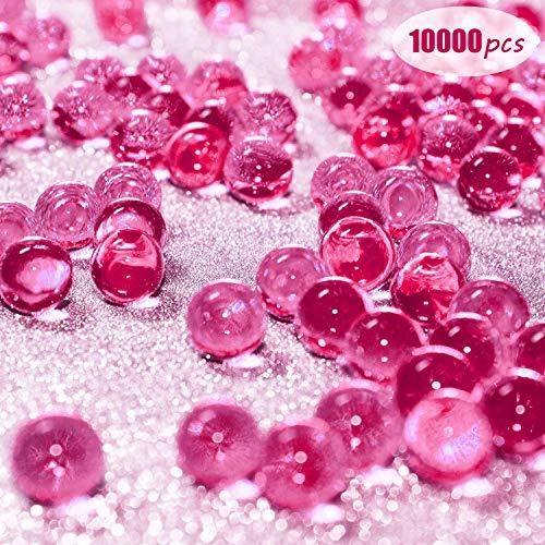 Eyscoco Wasserperlen, 10000 Stück Vase Füller Perlen Edelsteine Wassergel Perlen Wachsende Kristallperlen Hochzeit Herzstück Dekoration (Pink)