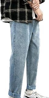 Generic11 Jeans Classici da Uomo in Denim Primavera Salopette Larghe dritte Pantaloni Stile Harem con Fondo Durevole Stile...