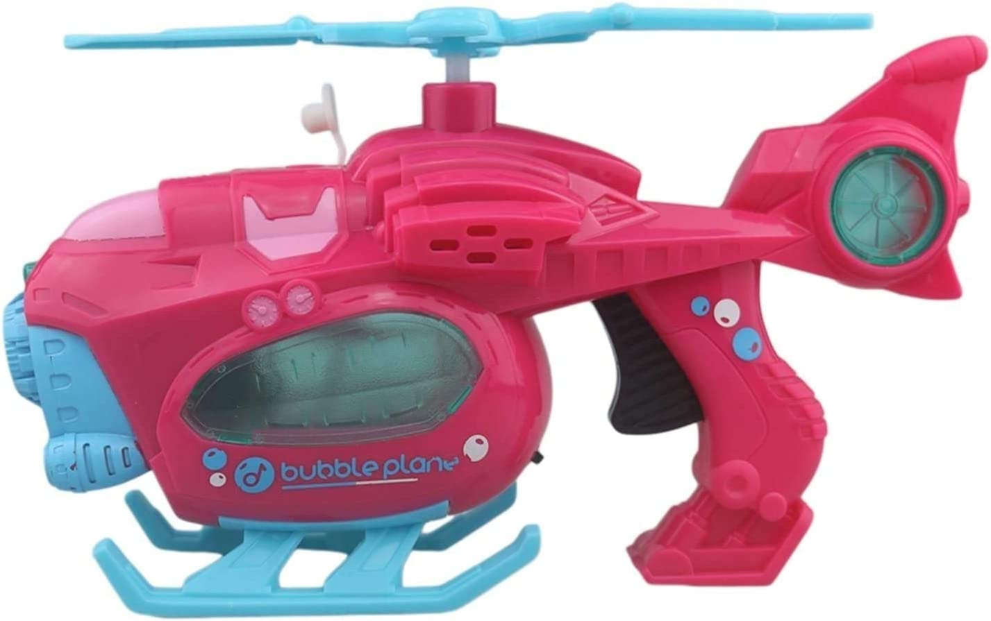 HXR Rechargeable Movable Helicopter Bubble Machine Toy with Musi