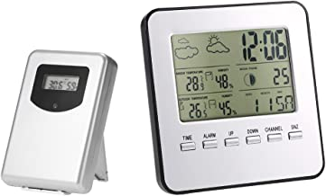 Multi-Functional Wireless Weather Station Clock LCD Digital Indoor Outdoor Thermometer Hygrometer Calendar Alarm Moon Phas...