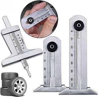 Rziioo Portable Digital Thickness Gauge 0-25mm Measurer Tool for Car Tire Tread Depth Tester Meter Ruler Caliper 0.01mm Precision