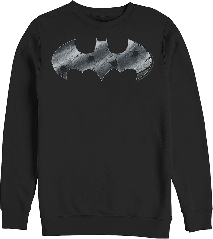 Fifth safety Special price Sun Men's Batman Sweatshirt Steel Scars Logo