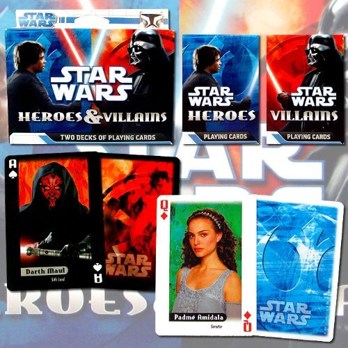 Best Quality Stars Wars Heroes and Villians Poker Playing Cards - 2 Pack