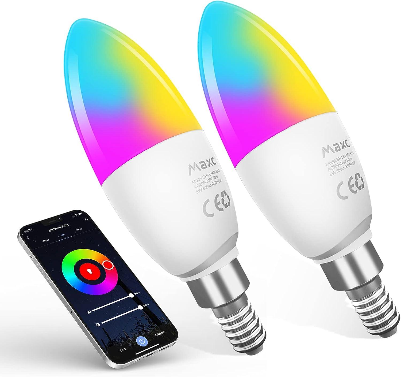 Bombillas de Luz LED Inteligentes Maxcio