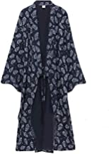 Double Villages V/êtements Hommes Japonais Yukata Japonais Kimono Brod/é Robe Pyjamas Habillage Robe