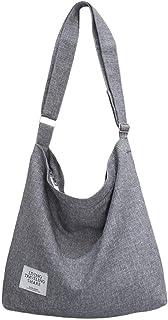 ZIIPOR Women's Canvas Crossbody Bag Casual Hobo Bag Shoulder Bag Shopping Bag