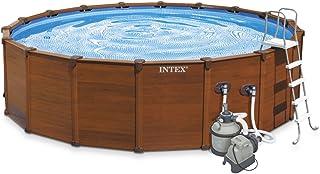 comprar comparacion Intex 28382 - piscina desmontable tubular sequoia panel madera 478x124cm con depuradora de arena y complementos