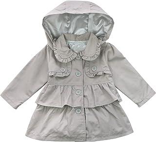 68633f5fa3660 YiZYiF Enfant Fille Manteau à Capuche Blouson Costume Soirée Cérémonie Haut  à Manche Longue Jacket Tutu