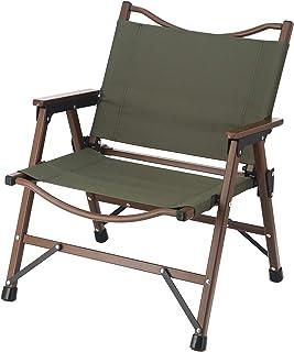 不二貿易 折りたたみ椅子 アウトドア ローチェア 軽量 オリーブ 水洗い可能 耐荷重80kg シュミット 37982