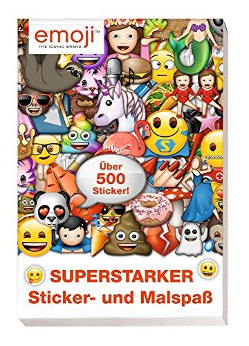 Emoji: Superstarker Sticker- und Malspaß: über 500 Sticker