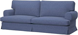 Soferia Replacement Cover for IKEA EKESKOG 3-seat Sofa Cover, Fabric Naturel Blue