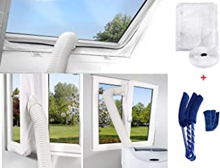 400CM Fensterabdichtung Für Mobile Klimageräte und Abluft-Wäschetrockner Hot Air Stop zum Anbringen an Fenster, Dachfenster, Flügelfenster Fensterabdichtung Duster Reinigungsbürste
