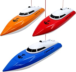 B bangcool RC Boat 4CH Remote Control High Speed Battery Operated Racing Boat Pool Toy