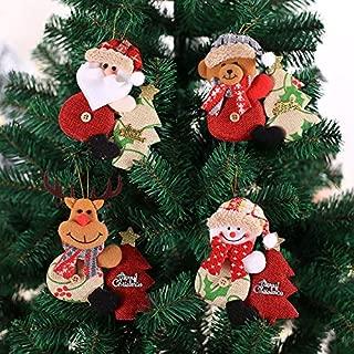 2019 Climbing Tree Santa Clause Snowman Bear Elk Christmas Tree Decor Ornament Christmas Party Decor for Christmas Home Party Decoration