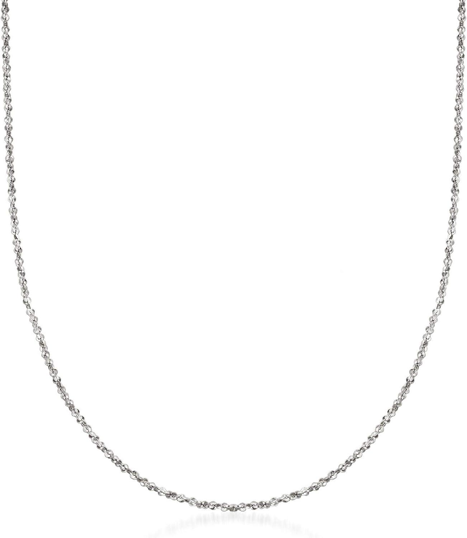 Ross-Simons Italian 1mm 14kt White Gold Crisscross Chain Necklace