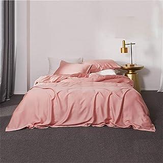 Dekbed Set Met, Licht Luxe Modern Simple Dubbelzijdig Effen Kleur Tencel Vier-Delige Dekbedovertrek Bedding Naked Sleep Si...