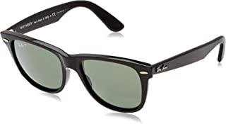 Ray-Ban WAYFARER - BLACK Frame CRYSTAL GREEN POLARIZED Lenses 54mm Polarized