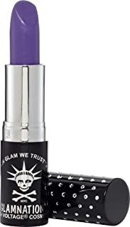 Manic Panic Electric Amethyst Lethal Lipstick, Cool Shade of Lilac Lipstick, Kitten Colors Lipsticks, Rich, Velvety Matte Finish, Vegan & Cruelty Free, Long Lasting Moisturizing Vegan Lilac Lip Stick