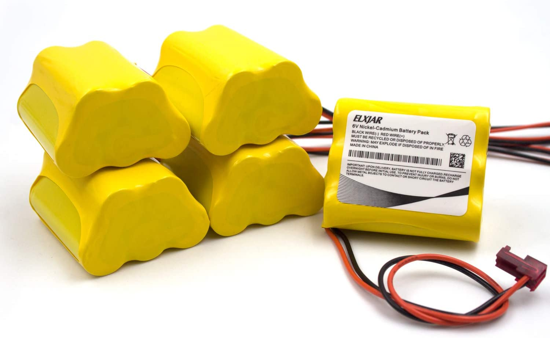 (5-Pack) 6V AA Ni-CD Battery Pack Replacement for Sure-Lite 026-149, SL026-149, S/L 026-149, ANIC1204, Energizer 41B020AF17201,Dantona CUSTOM-55 Emergency Lighting : Health & Household