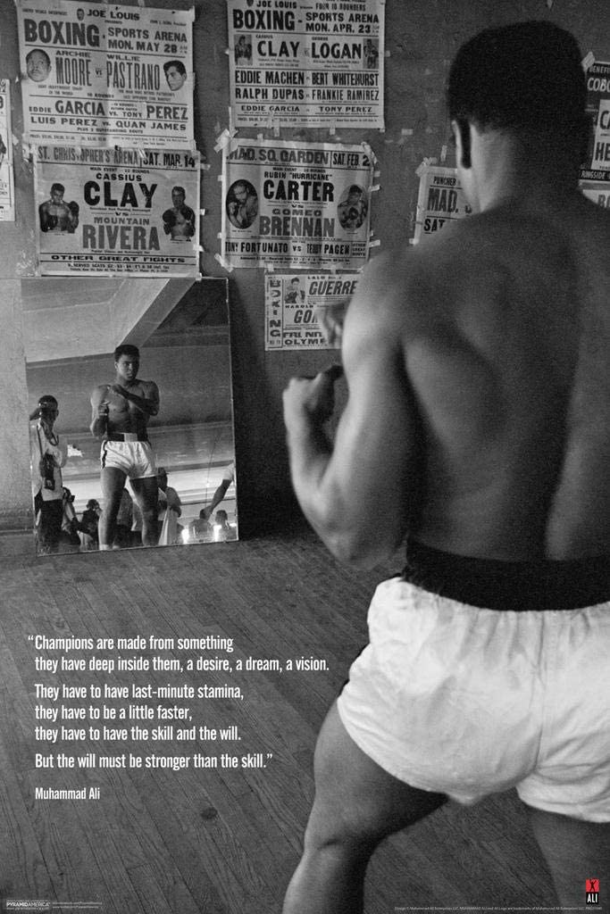 Muhammad Ali Poster A4 NEW HQ Print Inspirational Motivational Quote Wall Decor