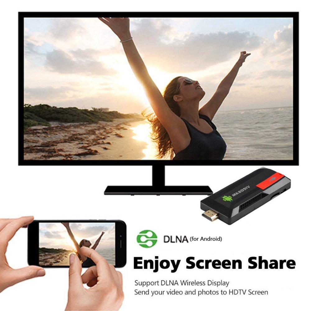 Docooler Android 5.1.1 TV Dongle RK3229 Quad Core 2G / 8G UHD 4K HD 3D Mini PC H.265 WiFi DLNA Smart Media Player EU Enchufe: Amazon.es: Electrónica