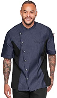 Men's Chambray Chef Coat with Mesh Side Panels (S-3X, 4 Colors)