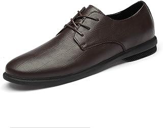 DADIJIER Oxfords Zapatos de Vestir para Hombres Plaid Plaid de 3 Ojos Encaje hacia Arriba Pisos Redondos Pisos Bloque Bloq...