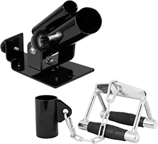 RIGERS Combo T-Bar Row Platform & Attachments   Multi-Choice: Single Eyelet Landmine Attachment with Chain and V Handle Accessory