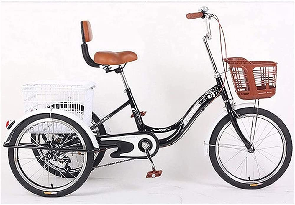 PARTAS Max 45% OFF Adult Tricycle Single Speed Department store 20 Three Crui Wheel Bike Inch