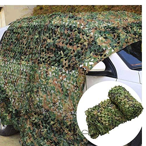 WY-camo Rollo de Malla de Camuflaje Militar, De Caza - (2 × 3 M) Verde Red De Bosque para Automóviles Camping Sombrilla Disparos Juego De Niños Decoración de Fiesta del Tema Cubiertas de Coche