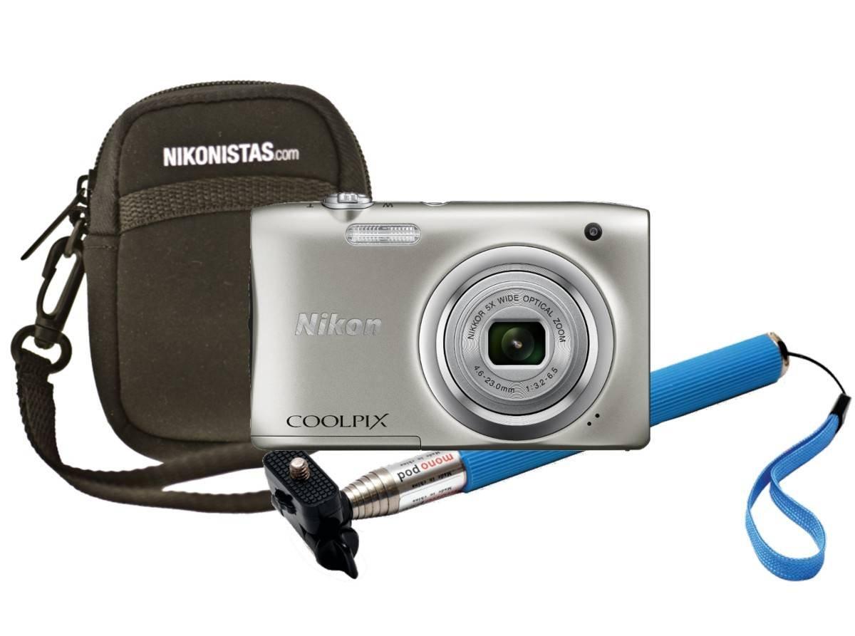 Nikon - Coolpix a100+Estuche+Selfie Silver: Nikon: Amazon.es: Electrónica