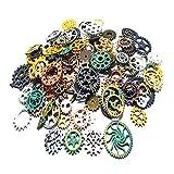 Czorange 100 Gram Mixed Color DIY Metal Steampunk Gears...