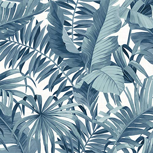 NuWallpaper NUS3148 Blue Maui Peel & Stick Peel and Stick Wallpaper