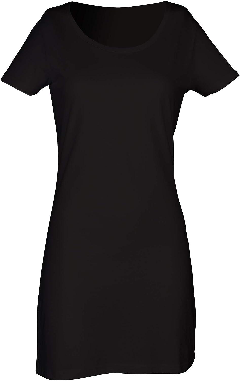 Skinni Fit Ladies/Womens Scoop Neck T-Shirt Dress