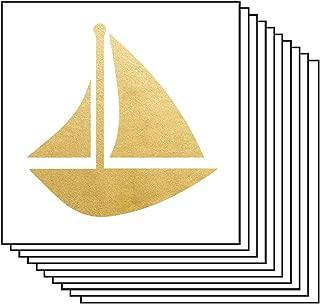 Sigma Sigma Sigma Sailboat Temporary Tattoos (10-Pk) | Skin Safe | MADE IN THE USA| Removable